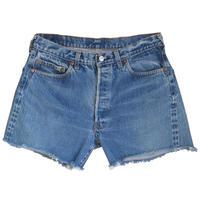 "【70's  vintage / US made】""Levi's"" 501 cut off denim shorts ""selvedge/赤耳""  -w36 - (om-212-47)"
