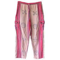 【80's vintage / India made】ying yang & 五鈷杵 print cargo  pants -free- (om-2062)