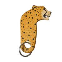 restock!【Kaki Design】Animal key ring / Kenia Hand Made  -Cheetah/チーター- (AS-16A)