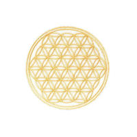 flower of life patch gold (sw003)