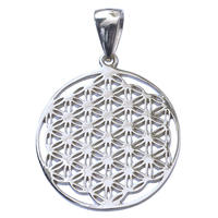 """""""flower of life"""" silver 925 pendant top  (sat003)"""