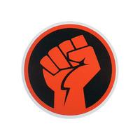 "【 starshine arts 】""Red Fist"" sticker (ss-s1)"