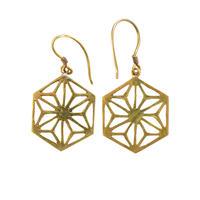 """nepal """"asa""""  brass pierced earrings (w004)"""