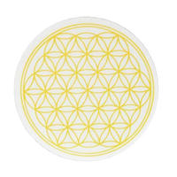 """flower of life"" sticker yellow (sst002-3)"