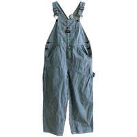 "【70's vintage / U.S.made】""Osh Kosh"" hickory  overall  -kids & junior size / 10Y ・140cm-  (jt-214-1)"
