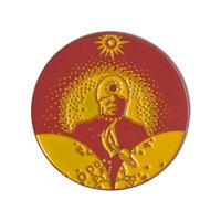 "【KHONKA KLUB / from CANADA】""Dancing in the Sun"" pin badge (kk-b-37)"
