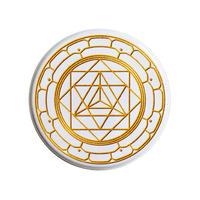 "【u.s.made】""merkabah"" gold badge -Φ44mm- (nb-b-05)"