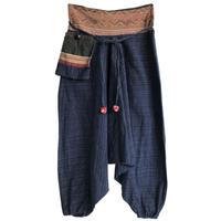 "【vintage / thailand made】""Indigo"" Saruel pants  -free- (om-216-17)"