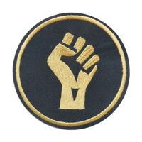 """black power"" patch -black × gold- (arw-002)"