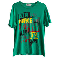 """【vintage / made in usa】""""NIKE AIR"""" T-shirts  -M / green & rasta color- (jt-218-64)"""