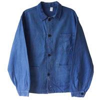 "【60's vintage / france made】""le mont carmel""  coverall work jacket -blue / 48- (om-2061)"