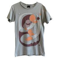 """【used】""""mixed faith""""  DJ play T-shirts   -S / light gray-  (om214-7)"""