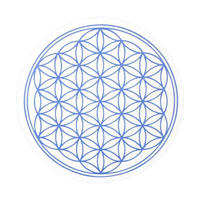 """""""flower of life"""" sticker indigo (sst002-6)"""