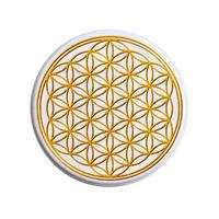 "【u.s.made】""flower of life"" gold badge -Φ44mm- (nb-b-02)"