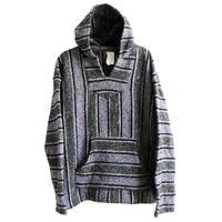 "【vintage / FRANK'S TEXTILES】""baja""mexican parka - purple × charcoal gray mix / XL- (jt-214-43)"
