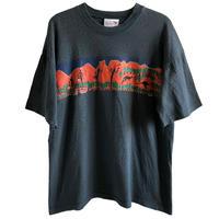 "【used / australia made 】""Bulurru"" aboriginal & Kangaroo T-shirts  -M / charcoal gray-  (om214-2)"
