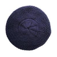 【vintage /Germany】handmade knit beret / tam  -dark navy- (om-11-5-25)