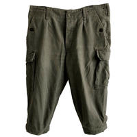 """【 1985's vintage / German army】""""BW""""moleskin knickers cargo pants  -olive green / W88cm- (q-003A)"""