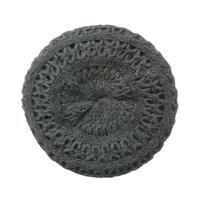 【vintage / Germany】handmade knit beret / tam  -gray- (om-11-5-11)