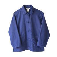 "【vintage】""jacadi"" frence made china button jacket  -blue / 140CM-  (om-14)"