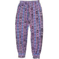 【80's vintage / guatemala made】splashed pattern easy pants -free size- (om-811)