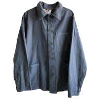 """【80's vintage /  germany made】""""aflamman"""" coverall /  work jacket  -charcoall gray / 48- (jt-214-20)"""