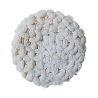 【vintage / Germany 】handmade aran beret / tam -natural- (om-10-9-19)
