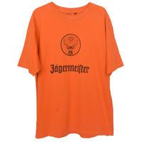 """【80's vintage / germany made】""""Jgermeister"""" official  print s/s t-shirts  -Orange / L-  (om-212-35)"""