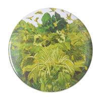 "【used / u.s.made】""birds & plants -seiko kato-"" collage big badge (bg007)"