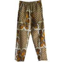 """【80's vintage / africa made】""""african batik"""" remake full print easy baker pants  (om-2063)"""