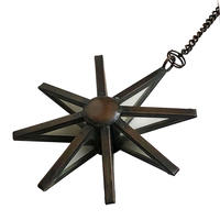 "【India hand made】""star"" hanging mirror ornament -type B- (M-218-6B)"