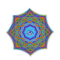 "【 starshine arts 】fractal spirit ""prism lotus om"" sticker (ss-1)"