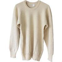 Restock ! 【dead Stock】 Italian military knit under wear - oatmeal heather-  (om-13)
