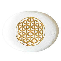 """""""flower of life"""" stone paper weight(so013)"""