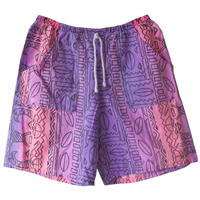 "【80's vintage / france made】""native geometric pattern"" full print baker shorts -free-  (om-20630)"