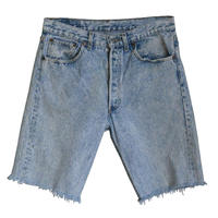 "【80's vintage / US made】""Levi's"" 501 cut off  denim shorts  -w32 / chemical denim - (om-212-49)"