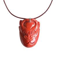 coral buffalo necklace (gan034)