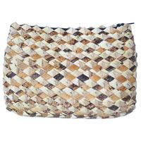 """【uganda / hand made】""""raffia""""  pouch (AS-19)"""