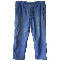 """【60's vintage / france made】""""le mineur""""  work pants  -blue / 38inch- (om-2060)"""