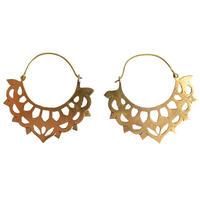 """lotus flower"" handmade brass pierce (gap005)"
