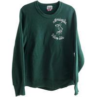 """【80's  vintage / U.S.A made】""""Lee / CROSS GRAIN"""" reverse weave sweat -green / S- (jt218-12)"""
