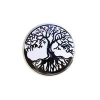 "【u.s.made】""Tree of life"" monotone badge  -Φ32mm-  (nb-005)"