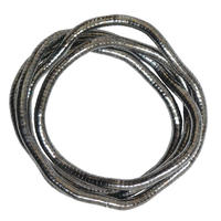 """Fexible Stainless Wire Necklace """"charcoal gray""""  (an001) """" 変形自在のくねくね・ワイヤーネックレス"""""""