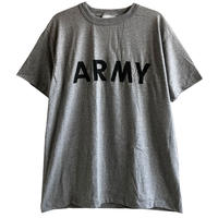"""【90's vintage / dead stock】""""US ARMY"""" military T-skirt  -heather gray / M size- (om214-10)"""