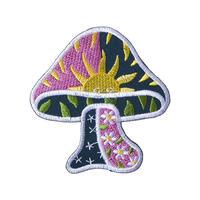 "【dead stock / u.s. made】""mushroom"" patch   (ym-018)"