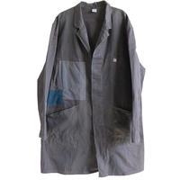 【70's vintage /K】Germany  remake shop coat / euro work coat  -dark gray gray / 56- (jt-025)
