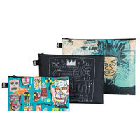 """LOQI"" ●Museum collection● Jean-Michel Basquiat - Skull - Zip Pockets (ZP.JB)"