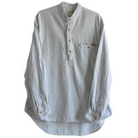 """【80's vintage / Ireland made 】""""MY GRANDFATHER SHIRT""""no color pullover shirt -stripe / L- (jt-214-28)"""