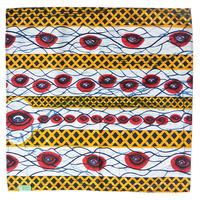"【pagne / mali made】""harmony for peace"" 100% cotton big bandana - eye-  (AS-21)"