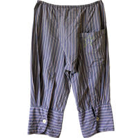 "【used / austria made】""eva blut"" stripe cropped pants -XS /  unisex-"